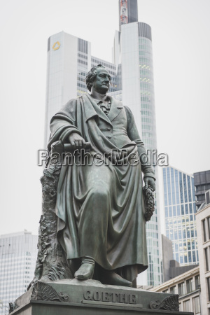 germany frankfurt monument of johann wolfgang
