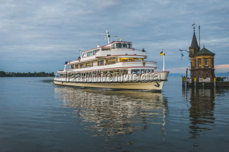 germany constance tourist boat arriving at