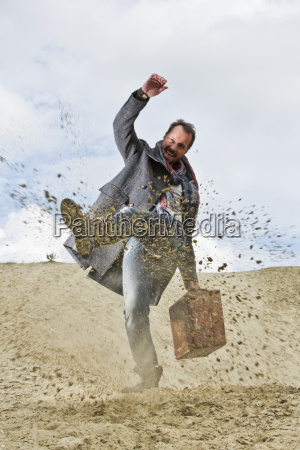 germany bavaria man standing in sand