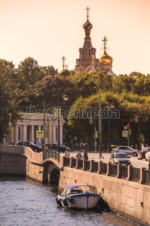 russia saint petersburg view to moika