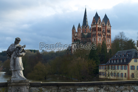 germany hesse view of limburg cathedral