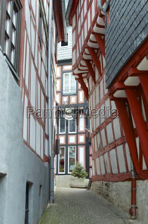 germany hessen limburg timbered frame building