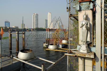 thailand bangkok buddha statue at chao