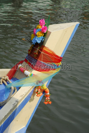 thailand traditional decoration with flowers at