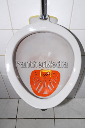 netherlands urinal with soccer goal and