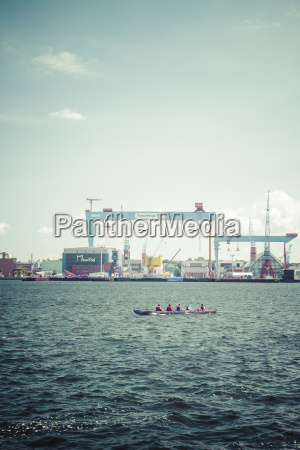germany schleswig holstein kiel harbour rowing
