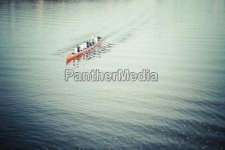 germany hamburg rowing boat on alster
