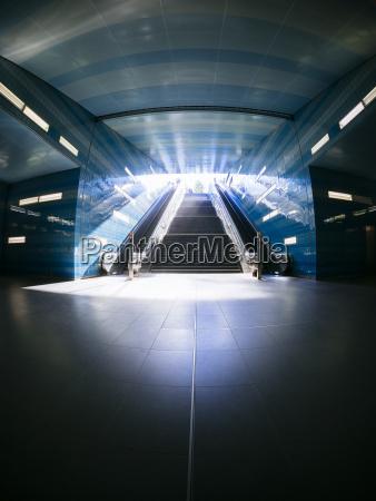 germany hamburg subway station ueberseequartier fisheye