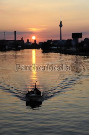 germany berlin boat on river spree