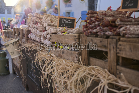 france bretagne finistere artisan sausages at