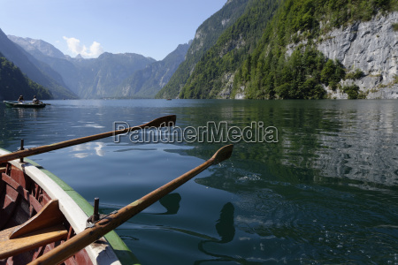 germany bavaria koenigssee rowing boats
