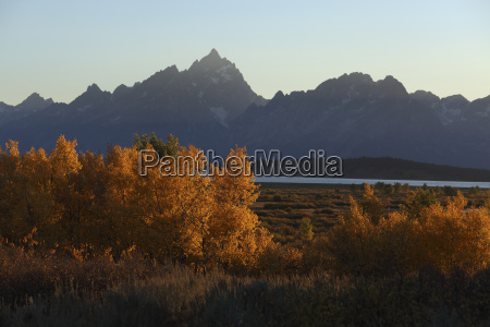 view of teton range at yellowstone