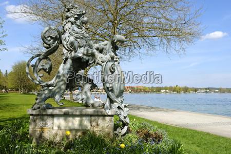germany upper bavaria starnberg sculpture of