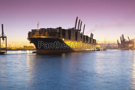 germany hamburg parkhafen harbour elbe container