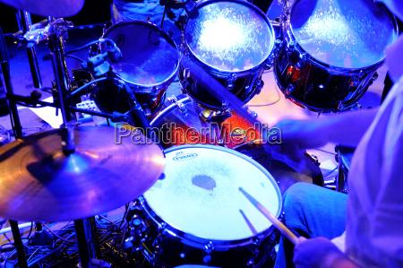 drummer making music