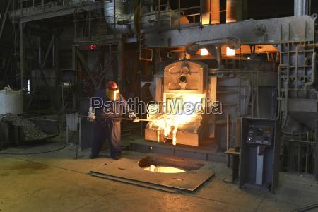 germany saxony worker racking the blast