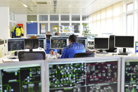 control center in a power station