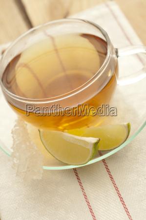 herbal tea in tea cup close