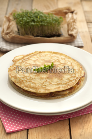 omelette in plate close up