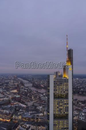 germany hesse frankfurt commerzbank tower at