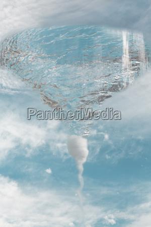 vortex in cloudscape composite