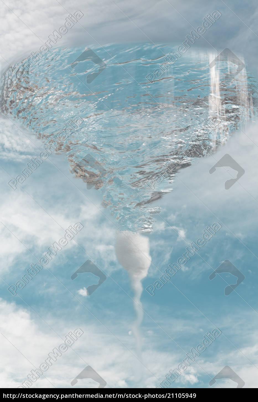 vortex, in, cloudscape, , composite - 21105949