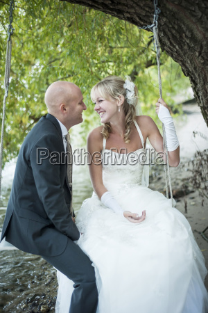 germany rhineland palatinate bridal couple sitting