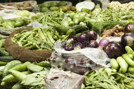 india dehli vegetables at market stall