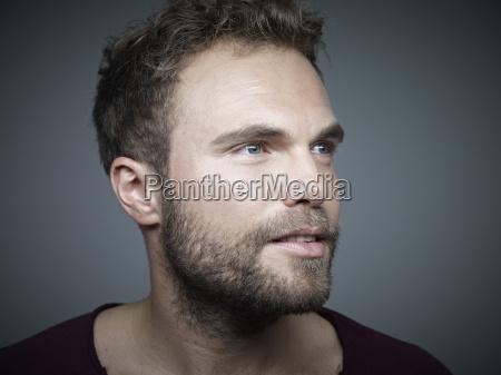 portrait of confident young man