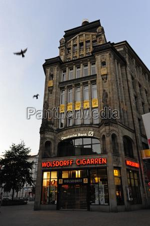 germany hamburg historical kontorhaus in city