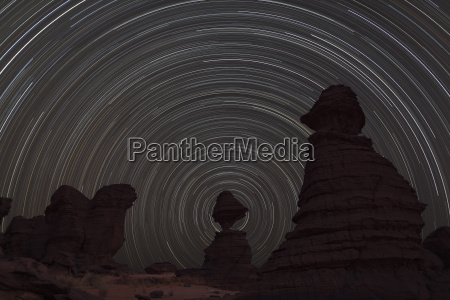 africa chad view of star trail