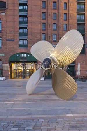 germany hamburg marine propeller at the