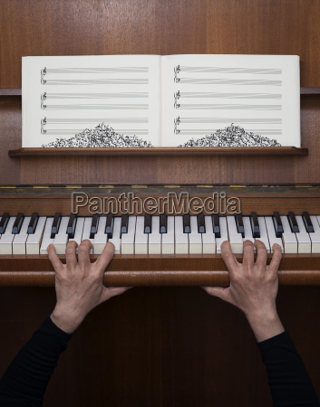 germany bavaria woman playing piano fear