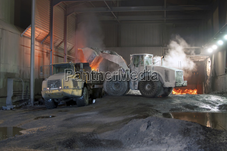 germany steel mill removal of slag