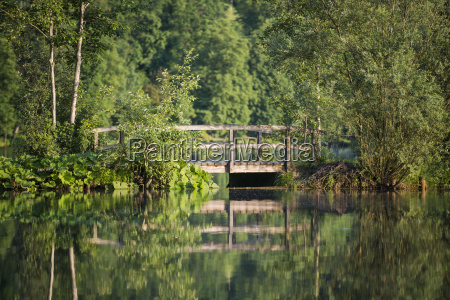 germany bavaria wooden footbridge at a