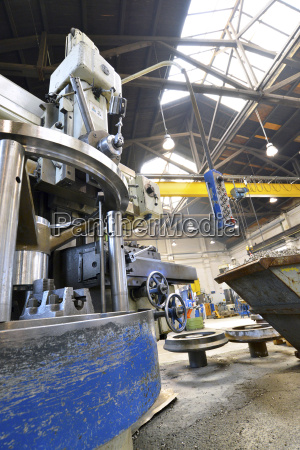 germany cnc machine in industry hall