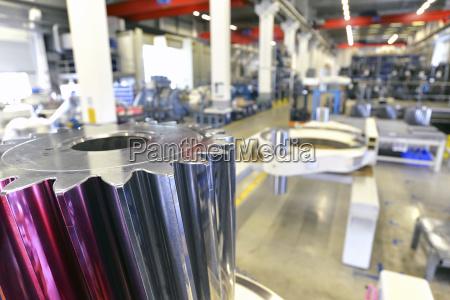 germany production of wind tubines cogwheel