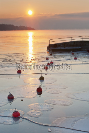 germany sunrise over lake constance