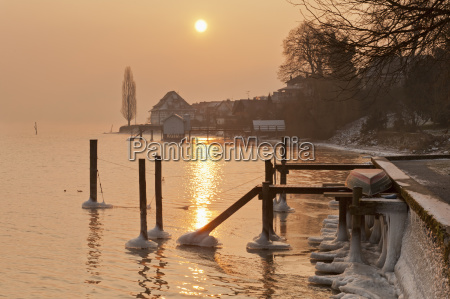 germany jetty and old granary in