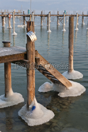 germany jetty and mooring posts in