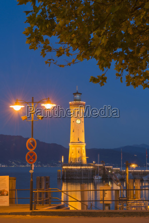 germany view of lindau harbour with