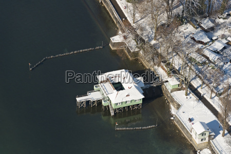 germany view of old bathhouse at
