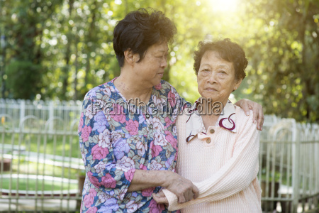 asian elderly women friends
