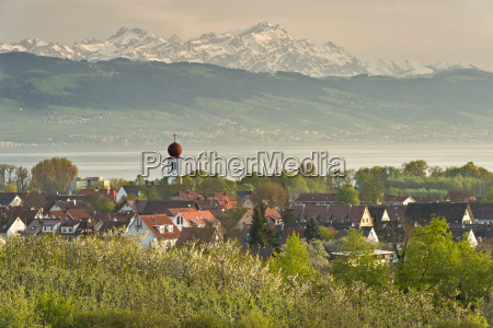 germany, , view, of, mountains, near, lake - 21111519