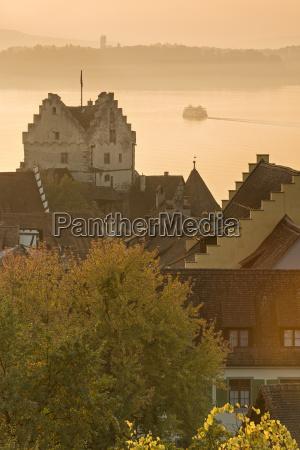 germany viewof meersburg castle and town