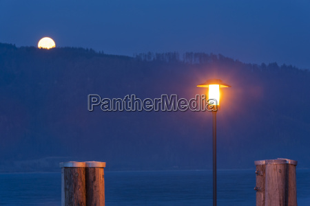 germany view of wooden post with