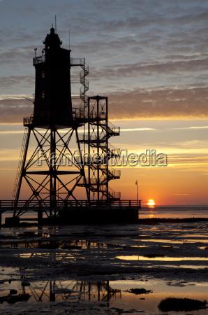 germany lower saxony dorum lighthouse obereversand