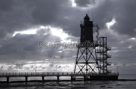 germany lower saxony lighthouse obereversand near