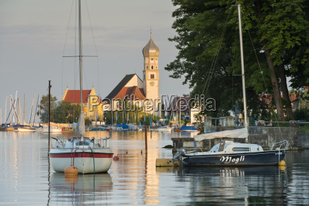 germany bavaria wasserburg sailing boats in