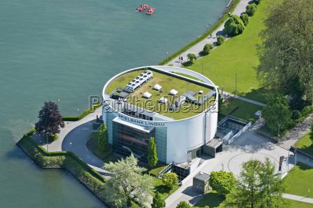 germany bavaria lindau aerial view of